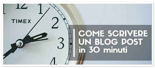 Come Scrivere un Blog Post in Meno di 30 Minuti