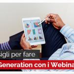 5 Consigli per fare Lead Generation con i Webinar
