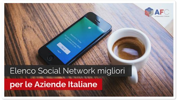 Elenco Social Network Migliori per le Aziende Italiane
