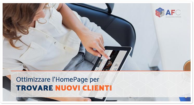 Ottimizzare l'HomePage per trovare nuovi clienti