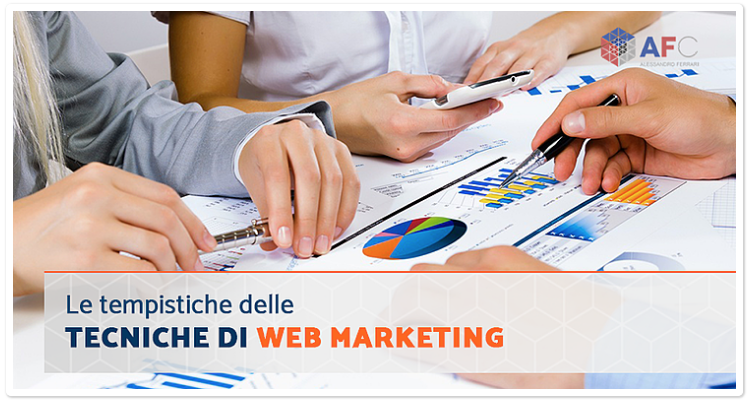 Le tempistiche delle tecniche di web marketing